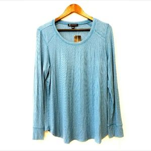 INC International Concepts Top Blouse Ribbed Core